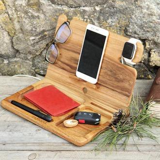 Подставка Док Станция Держатель Органайзер Холдер Докстанция Для Apple iWatch iPhone AirPods iPad