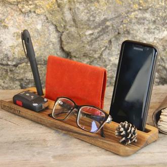 Настольная Подставка Держатель Для Очков Ключей Телефона Смартфона iPad iPhone Galaxy Паспорта Ручек