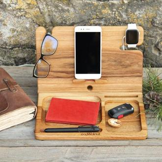 Настольный Органайзер Для iPhone iPad AirPods Часов Apple iWatch Ручки Документов Ключей Очков Ручек