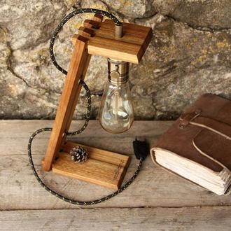 Настольная Ретро Лампа Эдисона Из Дерева, Прикроватный Деревянный Светильник Для Дома, Loft Decor