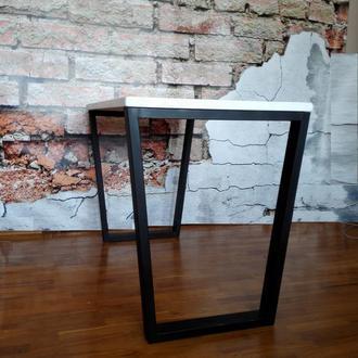 Стол кухонный обеденный рабочий loft белый стол