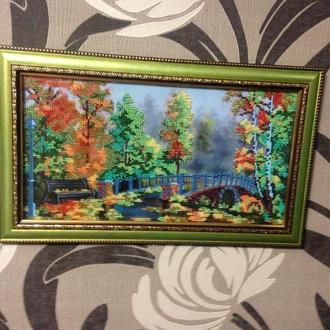Картина ручной работы вышитая бисером