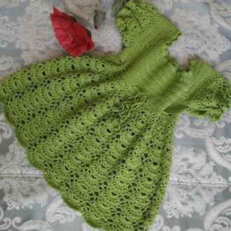 Вязаное платье для девочки
