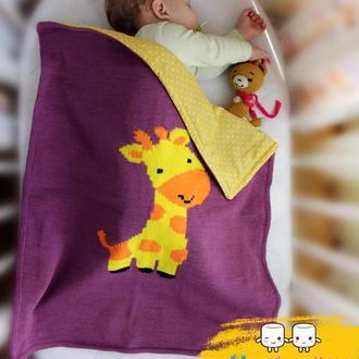 В'язаний плед з жирафиком