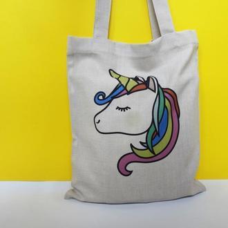 Экосумка единорог киев, эко-сумка, шоппер киев, екосумка єдиноріг, авоська киев, сумка единорожек