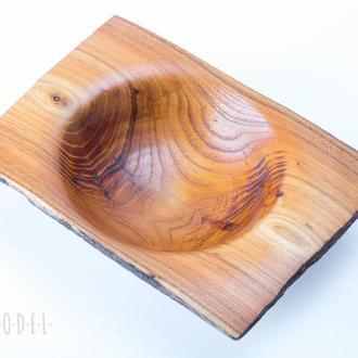 Декоративная миска из древесины акации