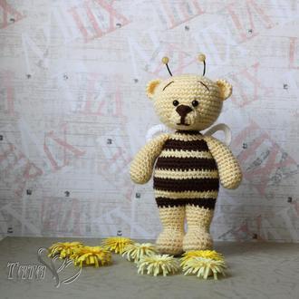 Мишка Пчёлкин Медвежонок крючком Амигуруми Интерьерная игровая игрушка