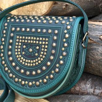 сумка Тобівка метал-зелена