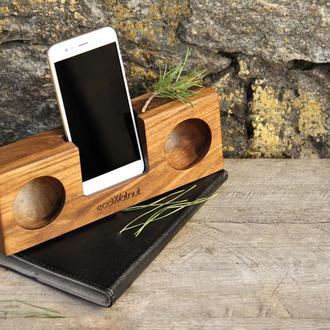 Подставка Для Телефона iPhone Смартфона Колонка Усилитель Звука - Подарок Жене Мужу Парню Девушке