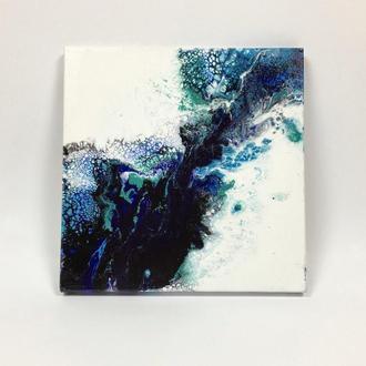 """Картина абстракція """"Синя енергія"""""""
