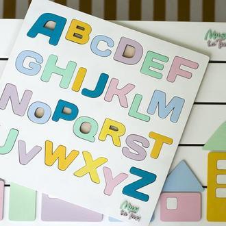 Кольорова англійька абетка азбука сортер, алфавіт, пазл, розвиваючі іграшки