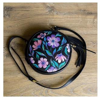 сумки, натуральная кожа, с художественной росписью