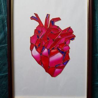 """Витраж """"Сердце"""""""
