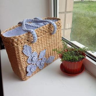 Женская сумка - плетенка