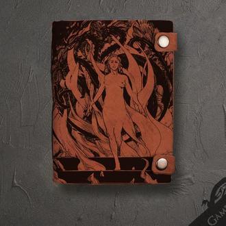 """Кожаный блокнот с гравировкой """"Дейнерис"""" из серии Игры престолов"""