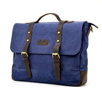 Мужская сумка-портфель из парусины и кожи RK-0001-4lx TARWA