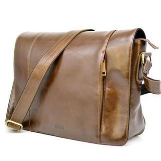 Кожаная мужская сумка-почтальон из натуральной кожи CQ-7338-3md бренда TARWA