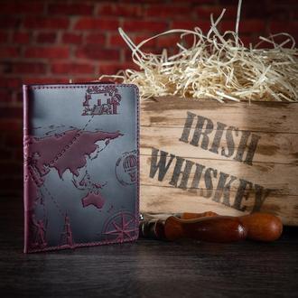 "Обложка для паспорта HiArt PC-01 Shabby Plum  ""7 wonders of the world"""