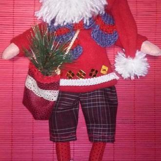 Игрушка- тильда Санта