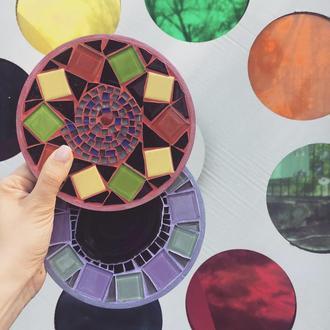 Подставка под горячее из мозаики