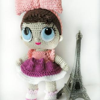 Большая кукла Лол вязаная игрушка