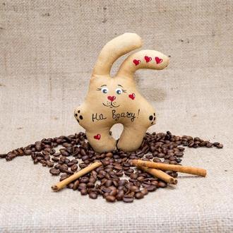 Кофейная игрушка Vikamade Зайка магнитик