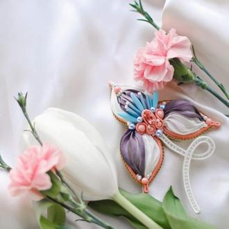 "Брошь цветок ""Ирис"""
