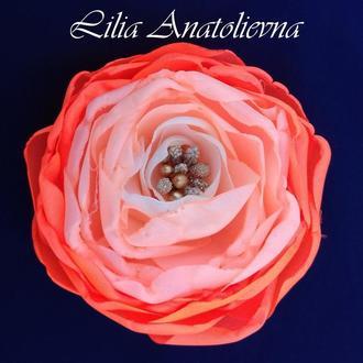 Цветы из шелка(заколка, резинка, обруч, повязка)