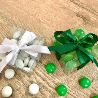 Прозрачные бонбоньерки, бонбоньерка, коробочки на свадьбу, декор свадьбы