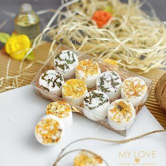 Набор бомбочек для ванны с сухоцветами Naturals Календула-Мята