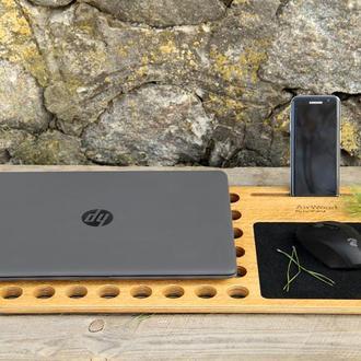 Деревянная Охлаждающая Подставка Кулер Холдер Столик Органайзер Для Ноутбука Macbook Для Охлаждения