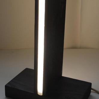 Умный Настольный сенсорный LED светильник Лампа из натурального термомодифицированной дерева Ясень