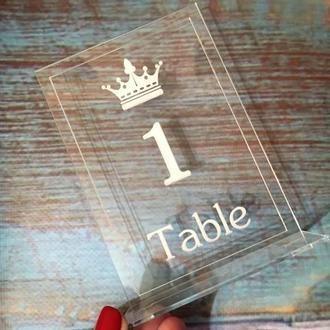 Акриловые номерки на стол с гравировкой (№2)
