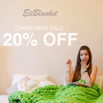 Merino wool chunky Eli Blanket
