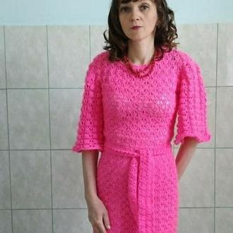 платье розовое очарование