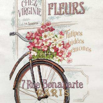 "вышивка Dimensions ""Парижский велосипед"""