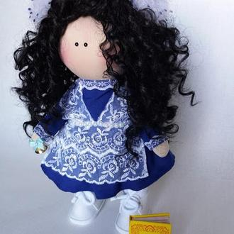 Кукла-школьница текстильная