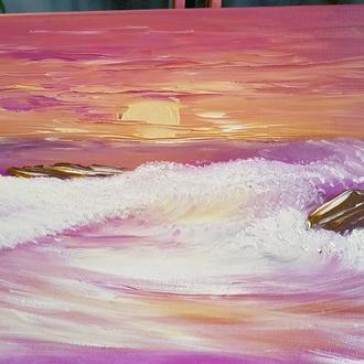Картина маслом Закат