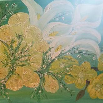 Картина маслом Просто цветы 50*70 см