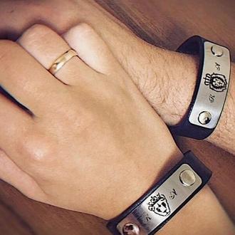 Парные браслеты для влюбленных 20 и 15 мм ширина пластин