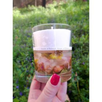 """Комбинированные парафино-гелевые арома-свечи """" aroma flower """"."""