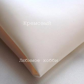 Зефирный фоамиран 50 на 50 см,0.8 мм,кремовый