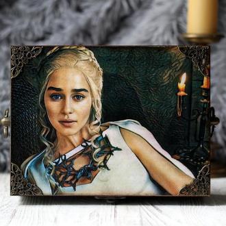 """Скринька з дерева """"Дэйнерис Таргаріен """", Гра престолів, Daenerys Targaryen, Game Of Thrones"""