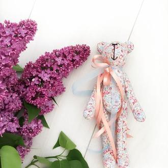 Цветочный мишка тильда мишутка ведмедик тедди игрушка подарок іграшка текстильная кукла