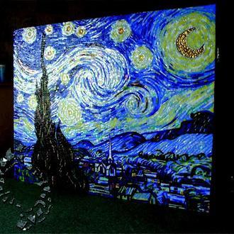 Эксклюзивная картина из колотой мозаики. Ночь.  Ван Гог.