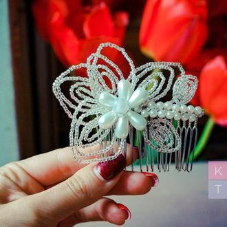 Свадебное украшение  / Цветочный гребень