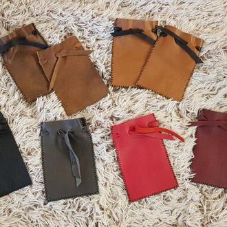 кожаные мешочки для рун и камней