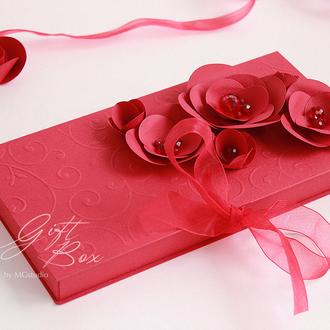 """Gift Box """"Vida"""" Цвет 1 (красный) - открытка в коробочке"""