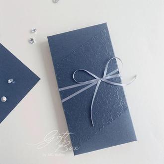 """Gift Box """"James"""" Цвет 2 (платиновый) - открытка в коробочке"""