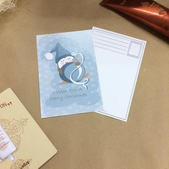 """Новогодняя открытка """"I wish you A marry Christmas"""""""